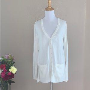 Victoria Secret's Cardigan White Size Medium
